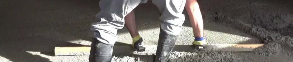 How to Pour and Finish a Concrete Garage Floor Part 1