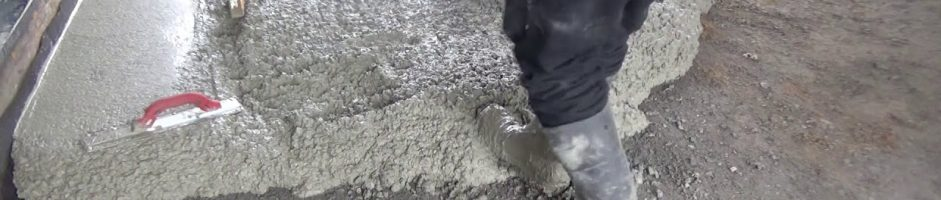 How to Pour and Finish a Concrete Slab